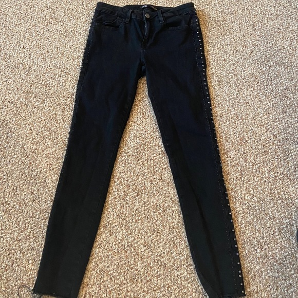 Zara black skinny jeans with stud detail